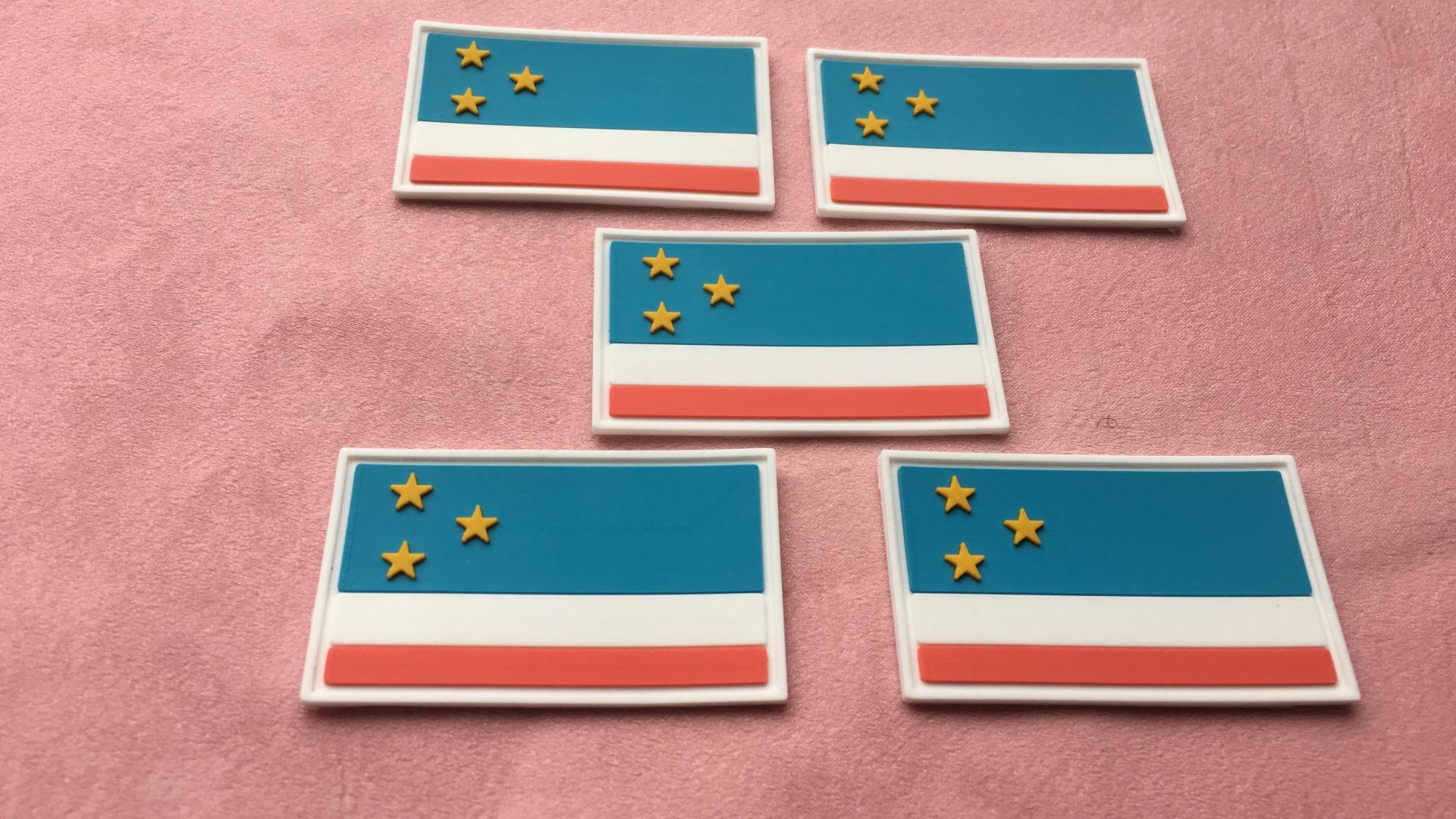 Резиновые нашивки с флагом страны